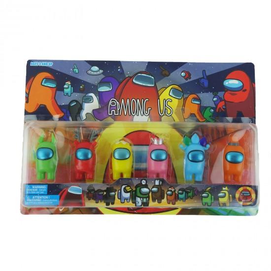 Set de 6 figurine Among Us. multicolor, 8 cm